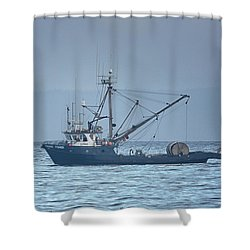 Shower Curtain featuring the photograph Viking Fisher 3 by Randy Hall
