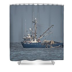 Shower Curtain featuring the photograph Viking Fisher 4 by Randy Hall