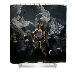 Viking Gefjon Shower Curtain