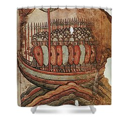 Viking Invasion 919 Shower Curtain by Granger