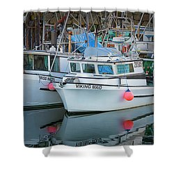 Shower Curtain featuring the photograph Viking Maid by Randy Hall