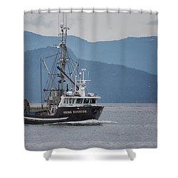 Viking Sunrise At Nw Bay Shower Curtain
