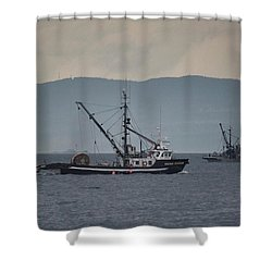 Viking Sunrise Shower Curtain