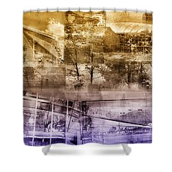 Vikings Stadium Collage Shower Curtain by Susan Stone