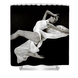 Shower Curtain featuring the photograph Viktory On Black by Rikk Flohr