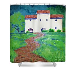 Villa In Tuscany Shower Curtain by Suzanne McKay