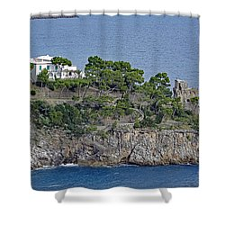 Villa Owned By Sophia Loren On The Amalfi Coast In Italy Shower Curtain