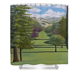 Village Eastern Views Shower Curtain