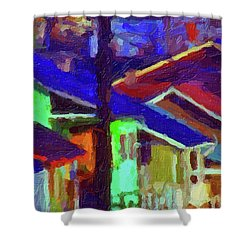 Village Houses Shower Curtain