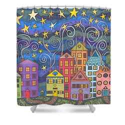 Village Lights Shower Curtain