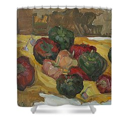 Village Peppers Shower Curtain