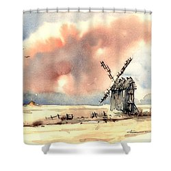 Village Scene Vi Shower Curtain