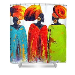 Village Talk Shower Curtain