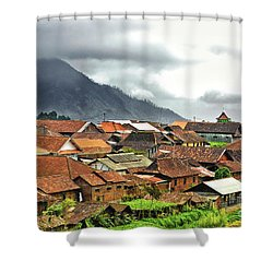 Shower Curtain featuring the photograph Village View by Charuhas Images
