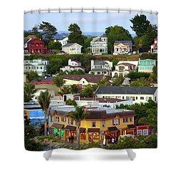 Village View  Sig Shower Curtain