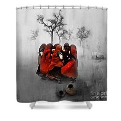 Village Women 01 Shower Curtain
