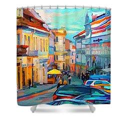 Vilnius At Paint Shower Curtain