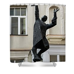 Vilnius Lamplighter Shower Curtain