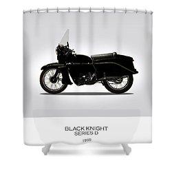 Vincent Black Knight 1955 Shower Curtain by Mark Rogan