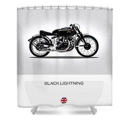 Vincent Black Lightning Shower Curtain by Mark Rogan