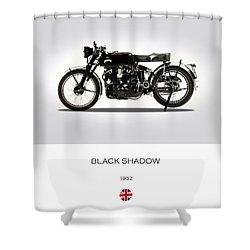 Vincent Black Shadow 1952 Shower Curtain by Mark Rogan