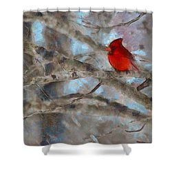 Shower Curtain featuring the mixed media Vincent by Trish Tritz