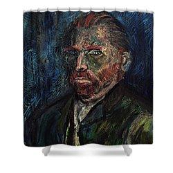 Vincent Van Gogh    Shower Curtain by Antonio Ortiz
