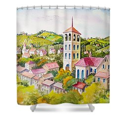Vine Country Shower Curtain by Charles Hetenyi