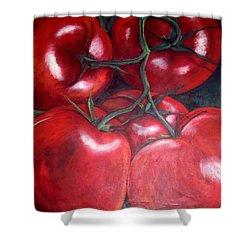 Vine Ripened Shower Curtain by Georgia  Mansur