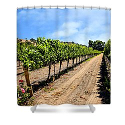 Vines And Roses Shower Curtain