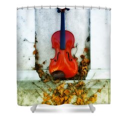Vines And Violin Shower Curtain by Bill Cannon