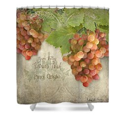 Vineyard - Napa Valley Vintner's Touch Pinot Grigio Grapes  Shower Curtain
