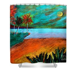 Vinoy Park Twilight Shower Curtain by Elizabeth Fontaine-Barr
