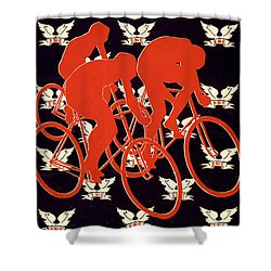 Shower Curtain featuring the photograph Vintage 1895 Springfield Bicycle Club Poster by John Stephens