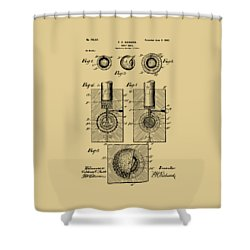 Vintage 1902 Golf Ball Patent Artwork Shower Curtain by Nikki Marie Smith