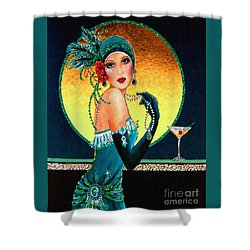 Vintage 1920s Fashion Girl  Shower Curtain