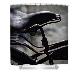 Vintage 1933 Elgin Bicycle Seat Shower Curtain