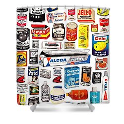 Vintage American Brands Shower Curtain