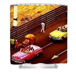Vintage American Cars In Havana  Shower Curtain