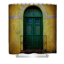 Vintage Arched Door Shower Curtain by Perry Webster