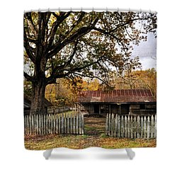 Shower Curtain featuring the photograph Vintage Arkansas Homestead by Marty Koch