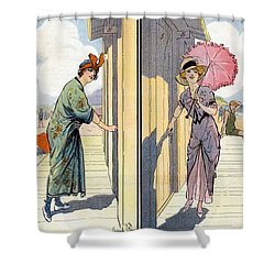 Vintage Art, Glamour Image Shower Curtain