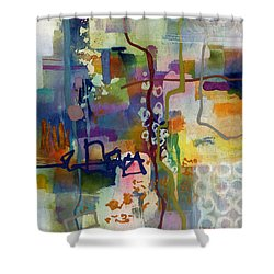 Shower Curtain featuring the painting Vintage Atelier 2 by Hailey E Herrera