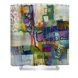 Shower Curtain featuring the painting Vintage Atelier by Hailey E Herrera