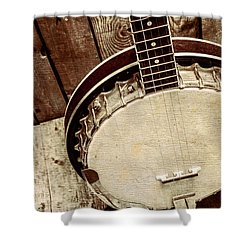 Vintage Banjo Barn Dance Shower Curtain by Jorgo Photography - Wall Art Gallery