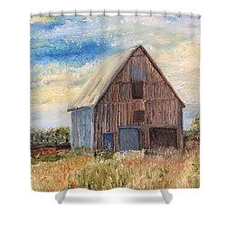 Vintage Barn Shower Curtain