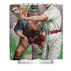 Vintage Baseball Card Shower Curtain
