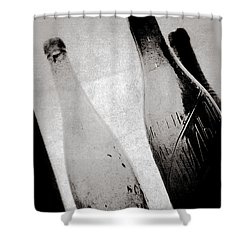 Shower Curtain featuring the photograph Vintage Beer Bottles. by Andrey  Godyaykin