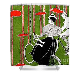 Shower Curtain featuring the photograph Vintage Bicycle Issue 1896 by Padre Art