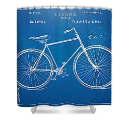 Vintage Bicycle Patent Artwork 1894 Shower Curtain